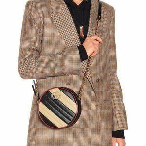 Gucci GG Mini Marmont Tricolor Crossbody Bag